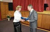 Вручение награды АКСОР аудитору Счётной палаты Ульяновской области Лахтиной Л.Ю. <br>